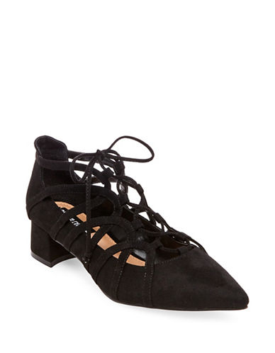 Design Lab Lord & Taylor Sarie Ghillie Pumps-BLACK-8.5
