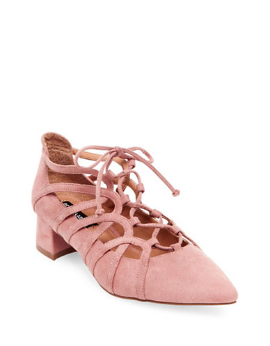 Design Lab Lord & Taylor Sarie Ghillie Pumps-PINK-8