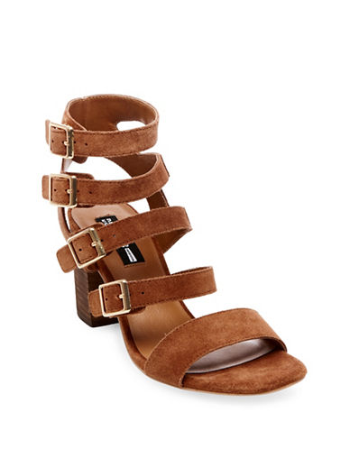 Design Lab Lord & Taylor Sara Buckled Sandals-BROWN-9