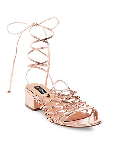 Design Lab Lord & Taylor Mya Lace-Up Sandals-METALLIC-8