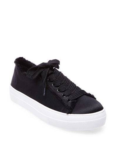 Steve Madden Greyla Satin Lace-Up Sneakers-BLACK-6