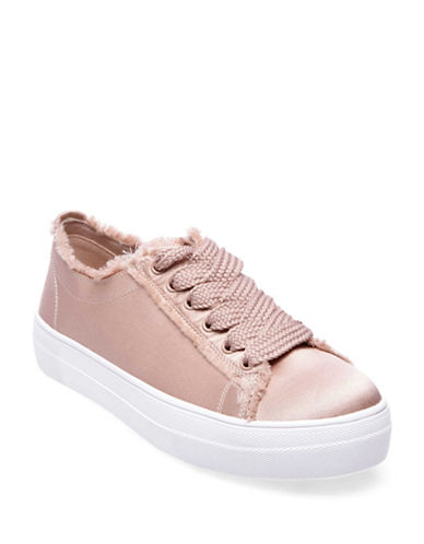 Steve Madden Greyla Satin Lace-Up Sneakers-BLUSH-10