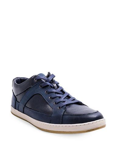 Steve Madden Ringer Low Top Sneakers-NAVY-9