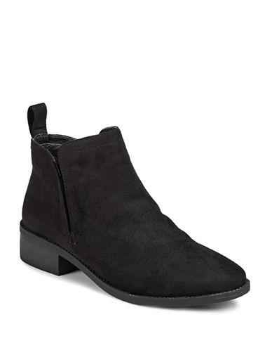 Steve Madden Flutter Block Heel Booties-BLACK-EUR 40/US 10