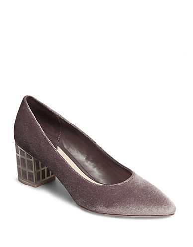 B Brian Atwood Karina Velvet Party Pumps-GREY VELVET-7.5