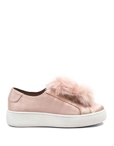 Steve Madden Furlie Pom-Pom Platform Sneakers-BLUSH-9