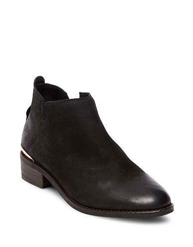 Steve Madden Kesseym Leather Booties-BLACK-9.5