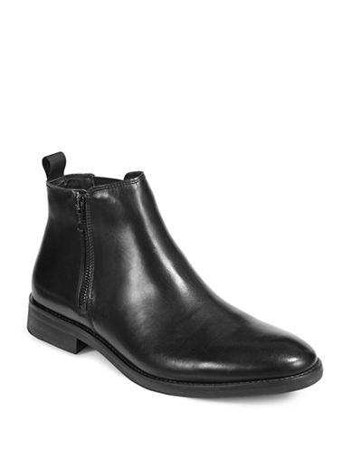 Steve Madden Leather Chelsea Boots-BLACK-11