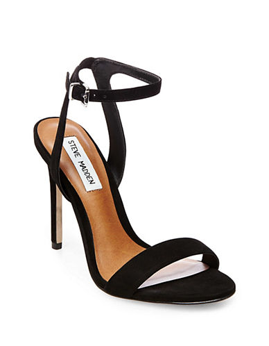 Steve Madden Sarandon Nubuck Leather Sandals-BLACK-10