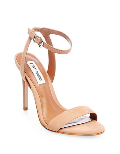 Steve Madden Sarandon Faux Suede Sandals-BLUSH-9