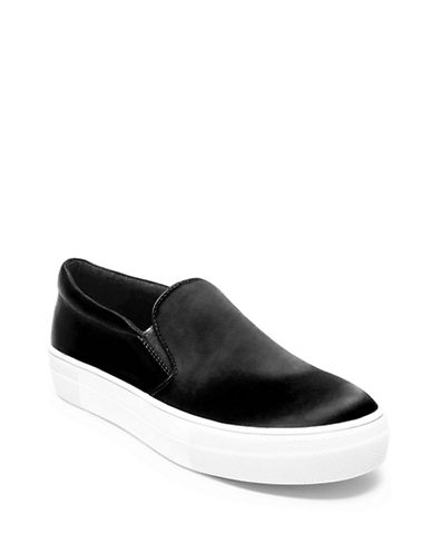 Steve Madden Giles Low Top Satin Sneakers-BLACK-6.5