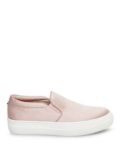 Steve Madden Giles Low Top Satin Sneakers-BLUSH-9.5