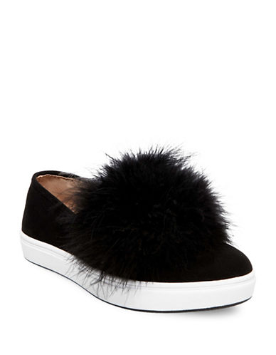 Steve Madden Emily Micro Suede Slip-On Sneakers-BLACK-9.5