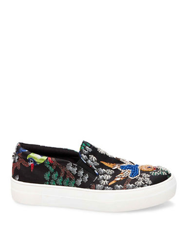 Steve Madden Gwen Low Top Sneakers-BLACK-8.5