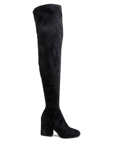 Steve Madden Block Heel Over-the-Knee Boots-BLACK-6.5
