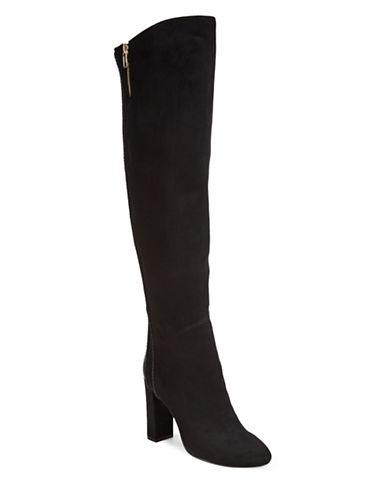 Steve Madden Zip Knee-High Boots-BLACK-7.5