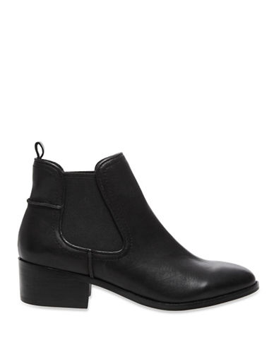 Steve Madden Dicey Leather Booties-BLACK-9.5