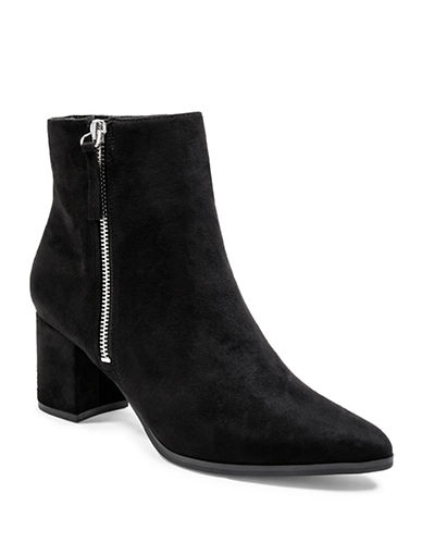 Steve Madden Textured Booties-BLACK-5.5