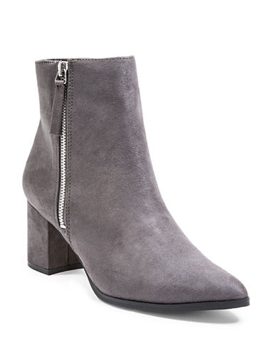 Steve Madden Textured Booties-GREY-8