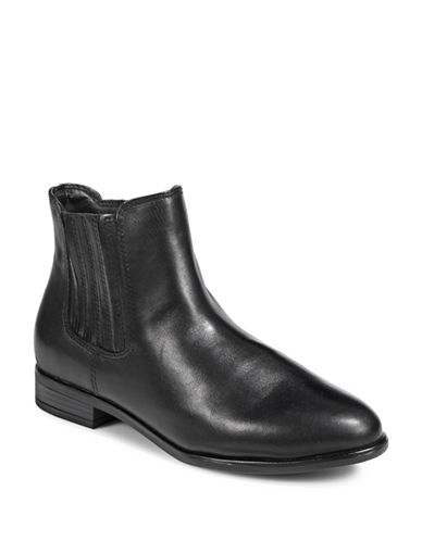 Steve Madden April Leather Chelsea Boots-BLACK-EUR 39/US 9
