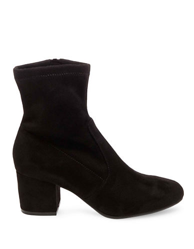 Steve Madden Irven Microsuede Ankle Boots-BLACK-6