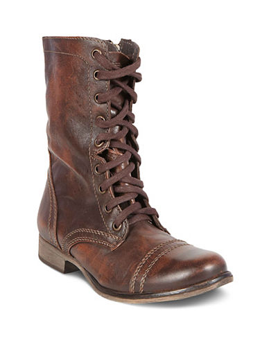 Steve Madden Troopa Bootie-DARK BROWN-7.5