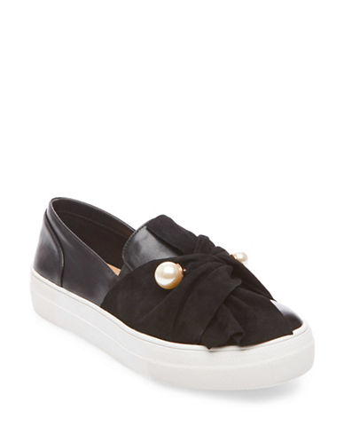 Design Lab Lord & Taylor Bounc Beaded Sash Slip-On Sneakers-BLACK-8 89357798_BLACK_8