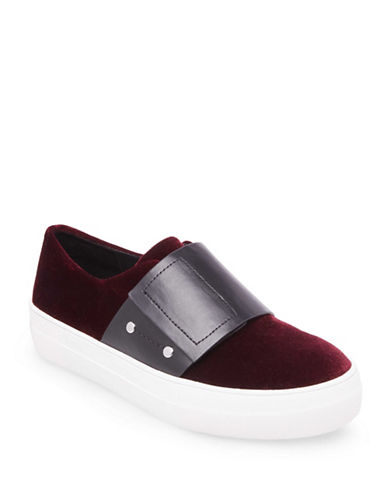Design Lab Lord & Taylor Grip Tape Fashion Sneakers-BURGUNDY-8.5