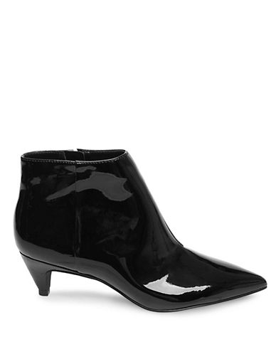 Design Lab Lord & Taylor Kitten Heel Booties-BLACK PATENT-7