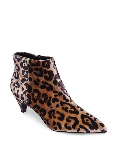 Design Lab Lord & Taylor Velvet Leopard Print Kitten Heel Booties-LEOPARD-8