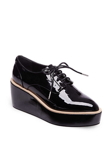 Design Lab Lord & Taylor Womens Flatform Oxfords-BLACK-7