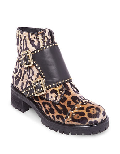Design Lab Lord & Taylor Studded Leopard Moto Boots-LEOPARD-5.5