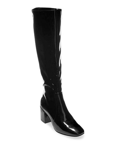 Design Lab Lord & Taylor Mod Over-the-Knee Boots-BLACK PATENT-8.5