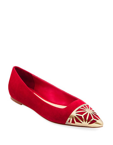 B Brian Atwood Shini Pointy Flats-RED-8.5