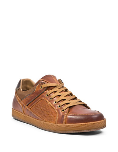 Steve Madden Felderr Lace-Up Suede Sneakers-BROWN-10.5