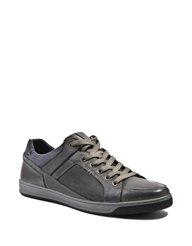 Steve Madden Felderr Lace-Up Suede Sneakers-DARK GREY-11