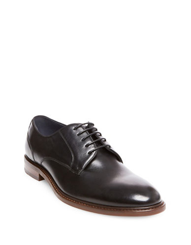 Steve Madden Bozlee Leather Oxfords-BLACK-13