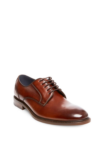 Steve Madden Bozlee Leather Oxfords-BROWN-8
