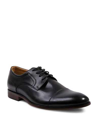 Steve Madden Bozlee Leather Oxfords-BLACK-8.5
