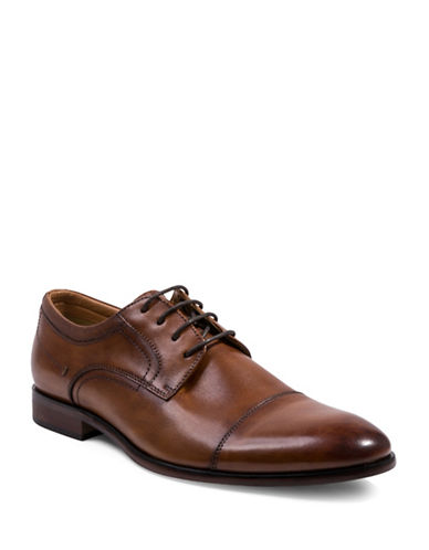 Steve Madden Bozlee Leather Oxfords-BROWN-10.5