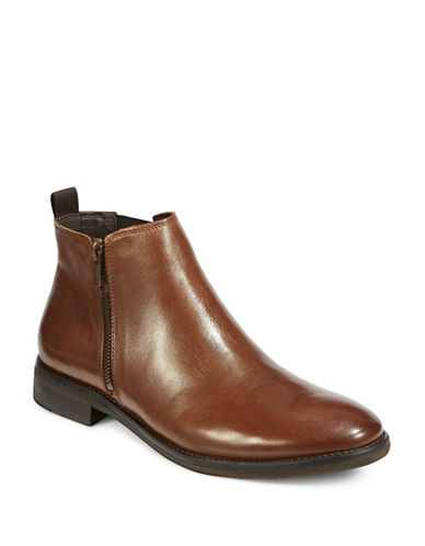 Steve Madden Leather Chelsea Boots-BROWN-10