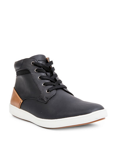 Steve Madden Foulkef High-Top Sneakers-BLACK-9.5