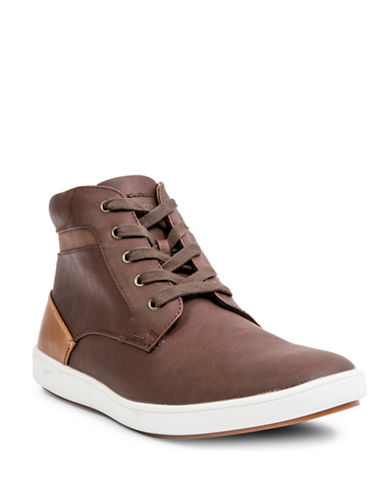 Steve Madden Foulkef High-Top Sneakers-BROWN-9