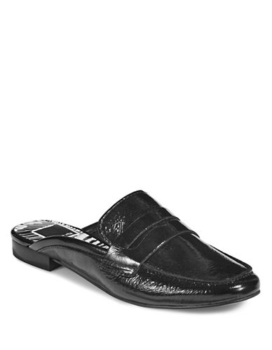 Dolce Vita Cybil Leather Slip-On Loafers-BLACK-9