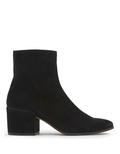 Dolce Vita Maude Leather Ankle Boots-BLACK-10