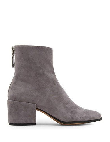 Dolce Vita Maude Leather Ankle Boots-GREY-6