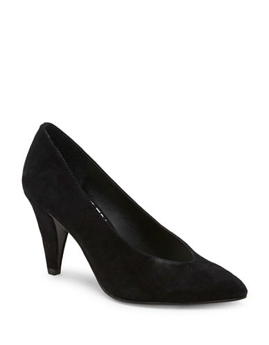 Dolce Vita Suede Pumps-BLACK-7.5
