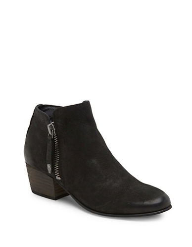 Dolce Vita Gertie Leather Ankle Boots-BLACK-10