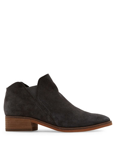 Dolce Vita Tay Slip-On Suede Booties-ANTHRACITE-8.5