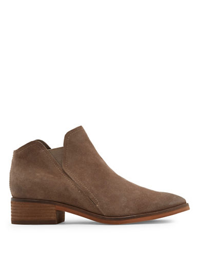 Dolce Vita Tay Slip-On Suede Booties-DARK TAUPE-9